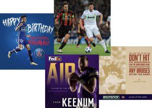 Soccer and Football Social Media Posts