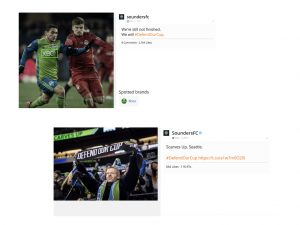 Seattle Sounders Social Posts