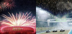 Sports and fireworks