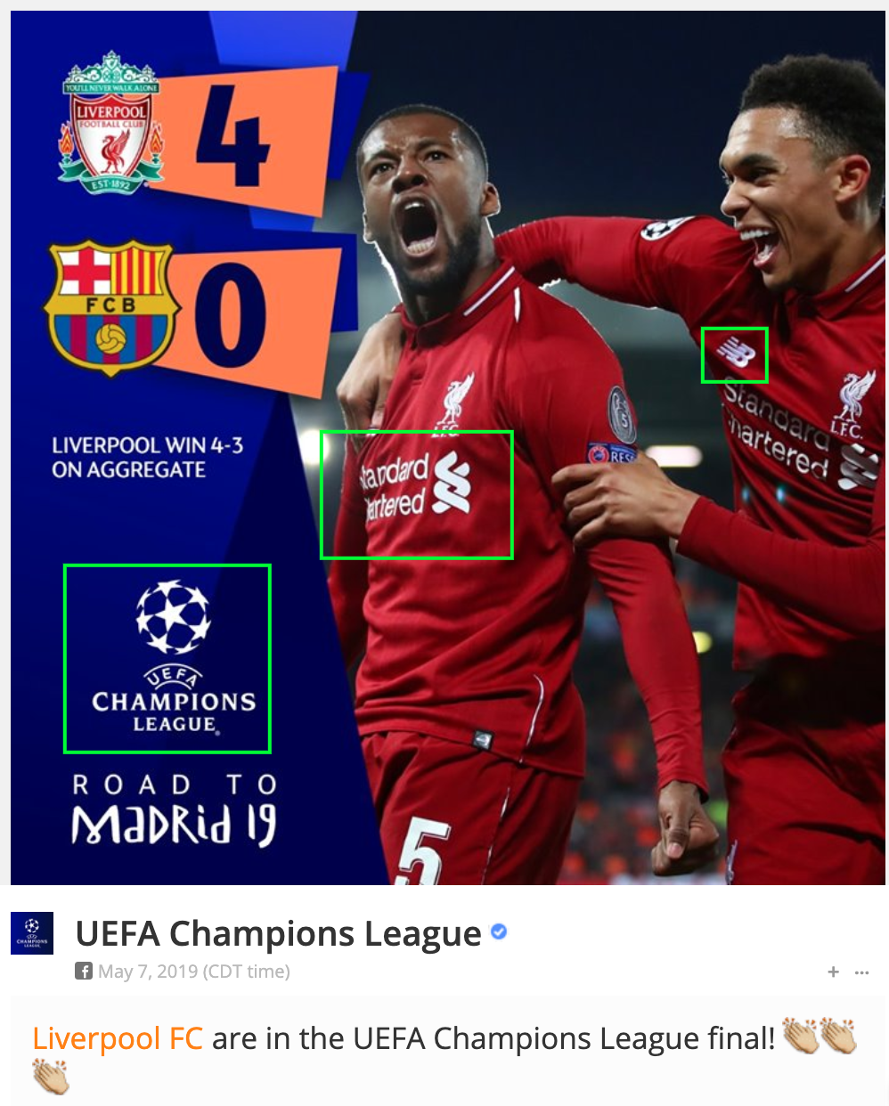 Liverpool defeats FC Barcelona in CL
