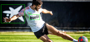 Valencia CF player training and kicking soccer ball