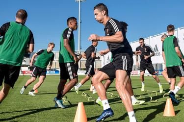 Juventus training session with Ronaldo