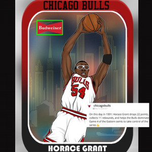 Chicago Bulls Horace Grant Cartoon