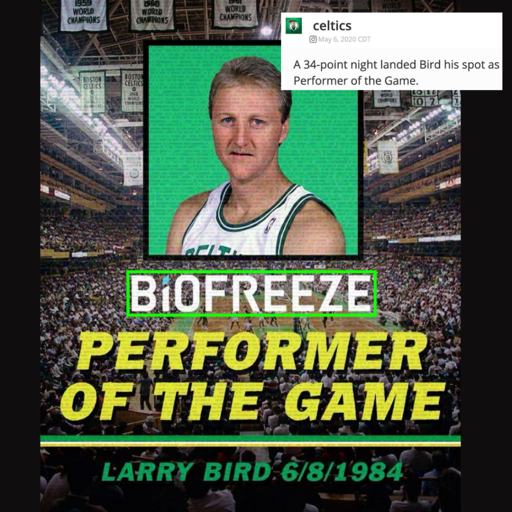 Boston Celtics with Larry Bird