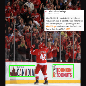 Detroit Red Wings player celebration