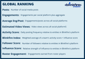 Global Ranking Metrics Blinkfire Analytics