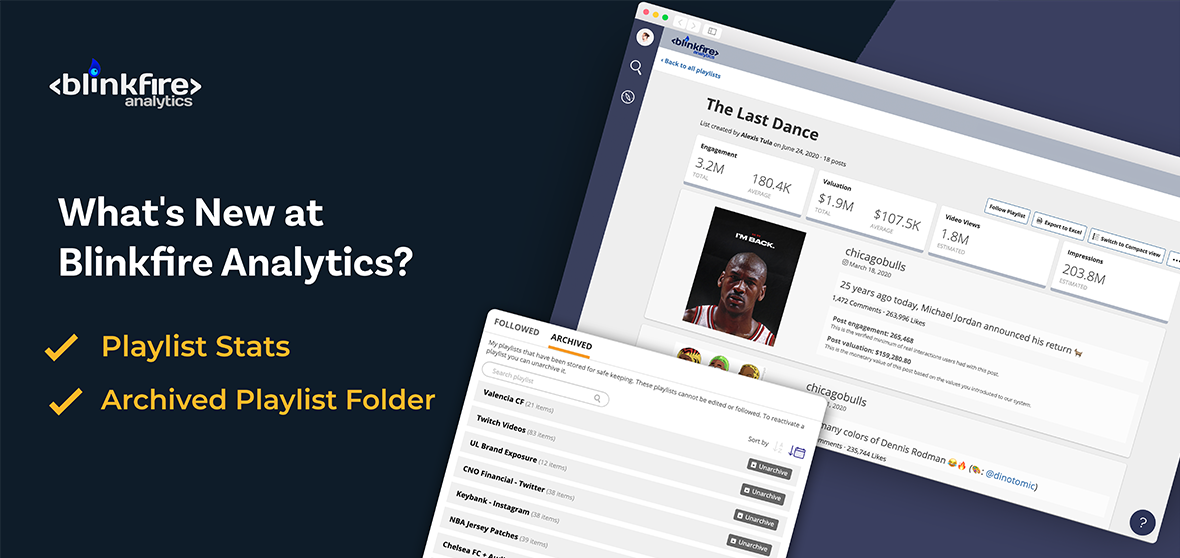 What's New at Blinkfire Analytics: Playlist Stats & Archived Playlist Folder