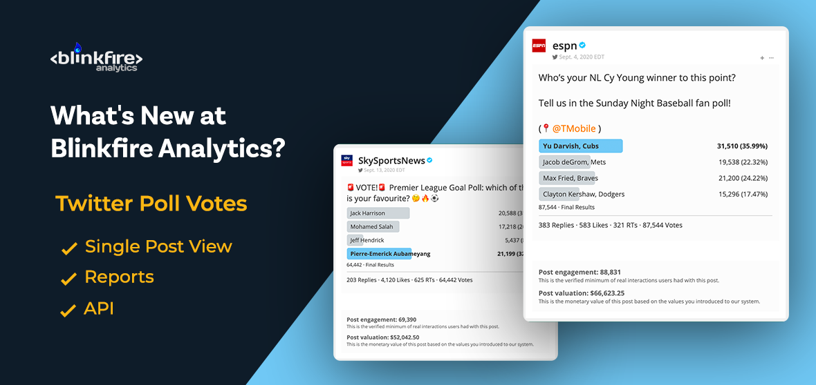 What's New at Blinkfire Analytics: Twitter Poll Votes