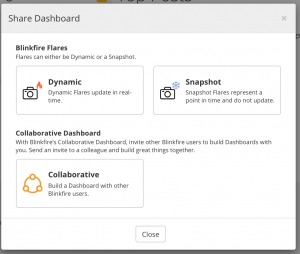 Blinkfire Dashboard that is shareable and collaborative