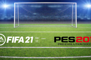 Soccer goal with FIFA EA Sports and PES