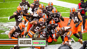 Cleveland Browns celebrating a victory